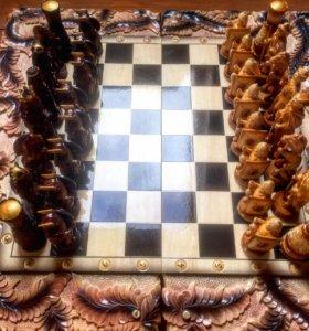 Резные нарды (шашки, шахматы) ручной работы