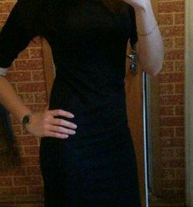 Платье темно-синее стрейч