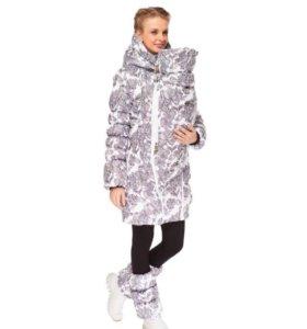 Зимняя куртка для беременных и слингоношения 3в1
