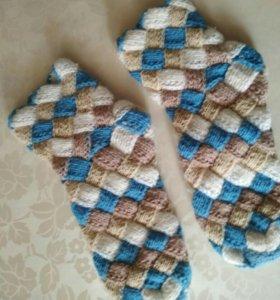 Уютные красивые теплые носочки ручной работы