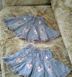 Юбка джинсовая для девочки 1,5 - 3 года