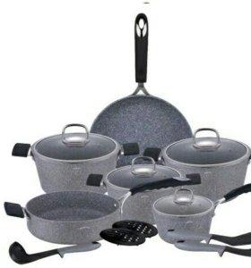 Набор посуды 15 предметов новый