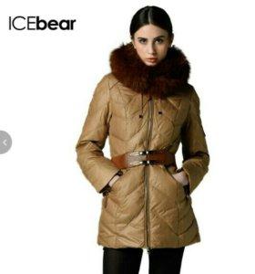 Пуховик icebear,мех лиса