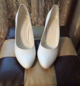 Туфли свадебные нат кожа
