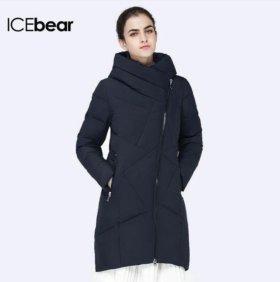 Пуховик черный icebear новый