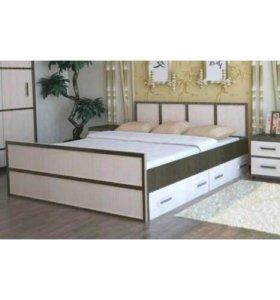 Кровать Сакура 1,6 м с ящиками