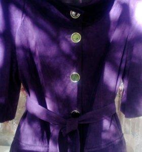 Замшевая куртка VITO PONTI (Италия),48р + перчатки