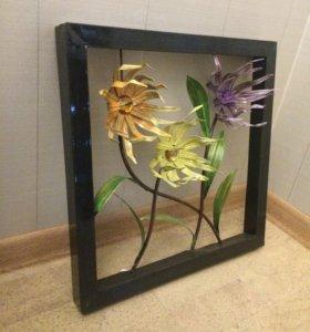 Декоративные пано цветы, 2шт
