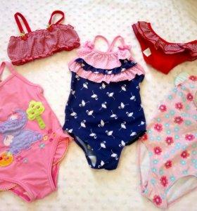 Купальники на девочку 6-9 месяцев