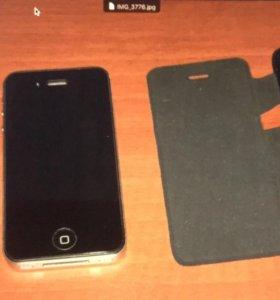 iPhone 4S 16 Gb Black (как новый) комплект