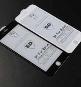 Защитное 5D стекло для Iphone 6 plus