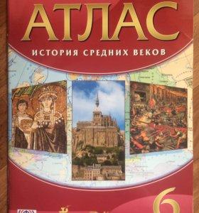 Атлас история средних веков 6кл ФГОС