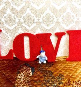 Объёмные буквы LOVE для фотосессии