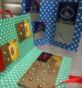 Подарочный набор,шоколадница