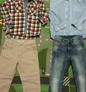 Джинсы,брюки и рубашки для мальчика