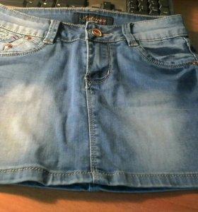Юбка для девочки джинсовая