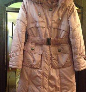 Детская зимняя куртка-пальто