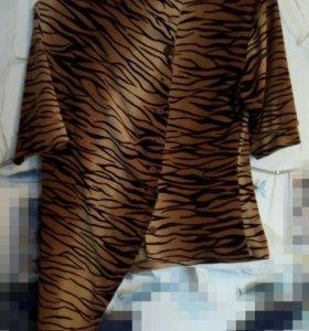 Блузка тигровый окрас.