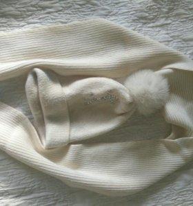 Шапка+шарф шерсть