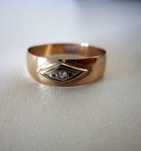 Золотое кольцо 585 пробы 17,5-18р
