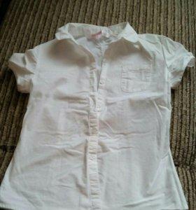 Белая блузка х/б для девочки