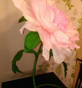Бумажный ростовой гигантский цветок, пион