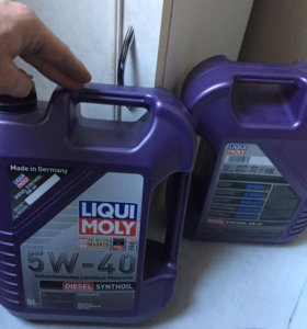 масло liqui moly 5w40 diesel synthoil