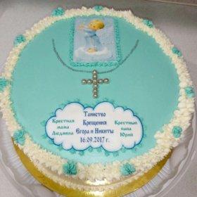 Торт на крещение.