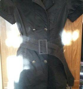 Платье черное джинсовые под пояс