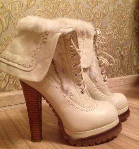 Зимние наутральные ботинки