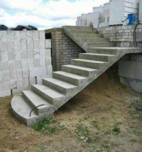 Бетонные лестницы, фундамент