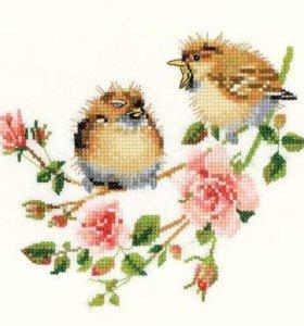 Набор для вышивки Птенцы и розы Heritage 778