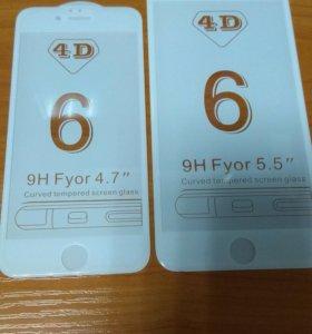 Стекло 4D IPhone 6,6s,6+,6s+/7/7+