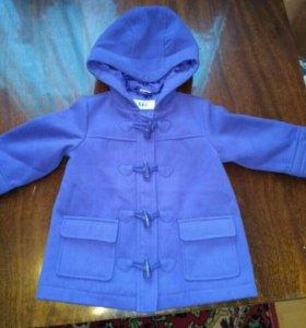 Пальто на девочку б.у. 80-86