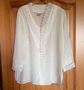 Блузка с кружевами, размер L-XL