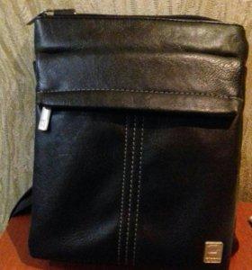 Мужская сумка OSTIN новая из натуральной кожи