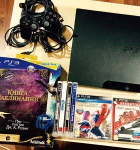 PlayStation 3 с игрой про Гарри потера и ещё 6 игр