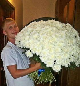 Букет хризантем, хризантемы поштучно, букет цветов