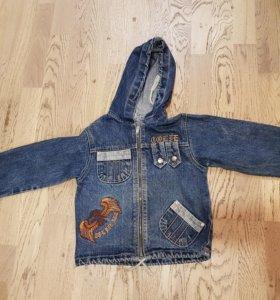 Новая джинсовая куртка 2-5лет