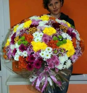 Букет хризантем, хризантемы поштучно,букет цветов