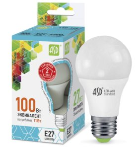 Светодиодная лампа ASD А60 11Вт, E27