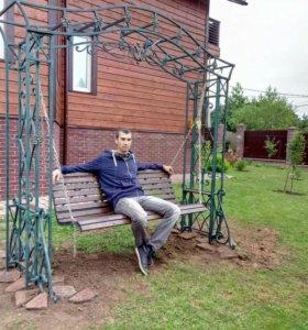 Качеля садовая. Ковка