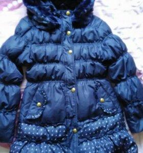 Детское пальто зимнее