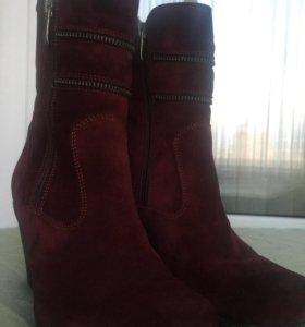 Ботинки зимние, с натуральным мехом