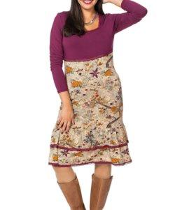 Новое двухцветное платье Шиго 56 р-р