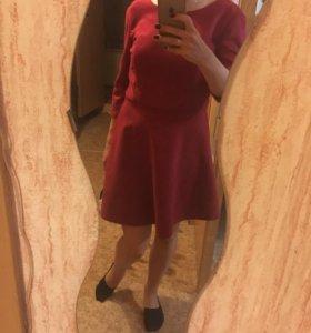 Вельветовое Новое платье