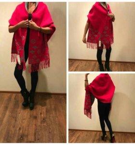 Пальто накидка палантин шарф новый