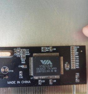 Контроллер USb 4 порта интерфейс подключения PCI