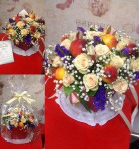 Цветочные,цветочно-фруктовые композиции