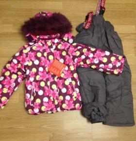 Новый комплект(комбинезон) для девочки зима